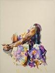 Purple floral by Alex C. Moore