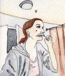Bleaching Her Stache by Jenny Ziomek