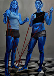 Blue Twins by Jennifer King