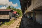 The Long Naah'a village along the Baram River in Borneo, Malaysia
