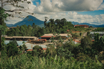 The Syarikat Samling Timber Baram Central Base Camp situated in the  jungle of Borneo, Malaysia