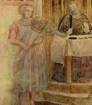 Scenes from the Life of St John the Baptist: 3. Feast of Herod (detail)
