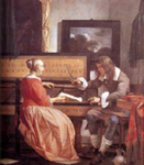 Man and Woman Sitting at the Virginal